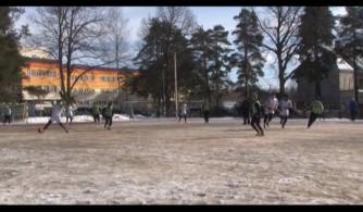 Финал по мини-футболу на снегу