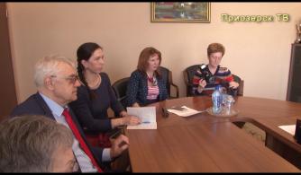 Пресс конференция главы администрации Приозерского района с представителями местных СМИ