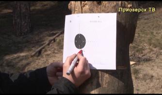 Соревнование среди мужчин по стрельбе из пневматической винтовки в Приозерске